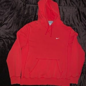 Nike Fleece Pullover Hoodie Mens Size Large Red